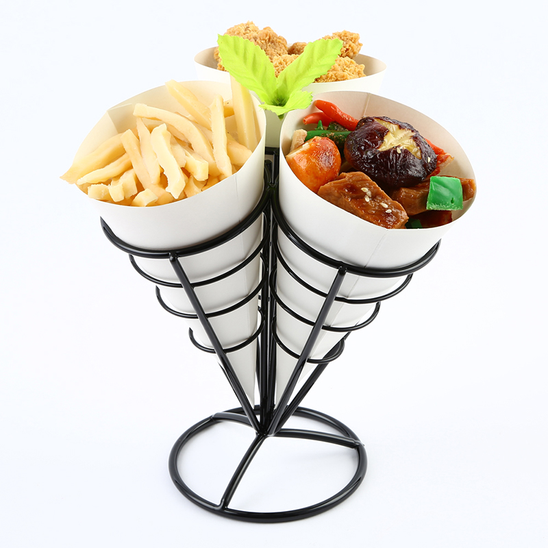 Table Presentation French fries Cone Rack, Table Serving Cone holder, Sharing Cone Holder